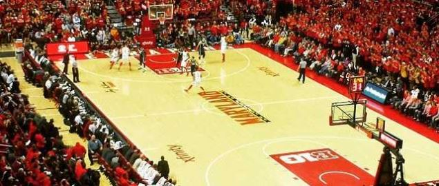 Xfinity Center during a Maryland basketball game against Michigan State in January 2015.