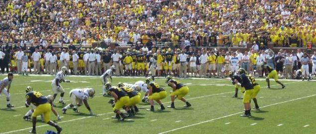 2009 Michigan Wolverines at home vs the Western Michigan Broncos.