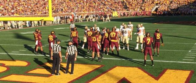 Purdue Boilermakers visiting the Minnesota Golden Gophers on November 5, 2016.