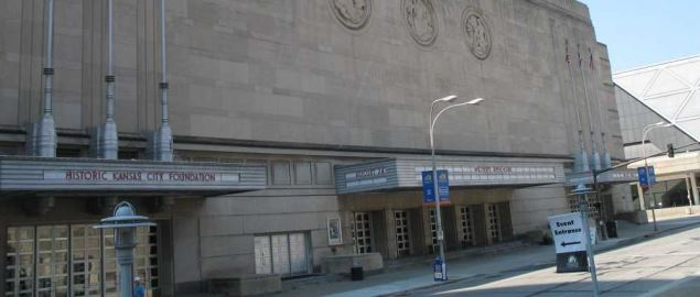 Kansas City Memorial Auditorium, where the UMKC men's basketball team plays.