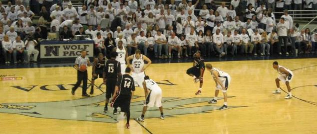 Tip off of Nevada Wolf Pack at home vs New Mexico State Aggies.