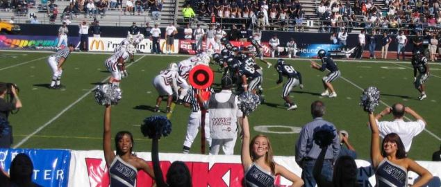 University of Nevada blowing out New Mexico State University, 48-21.