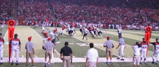 New Hampshire Wildcats on offense vs Rutgers in a 2004 regular season away game.