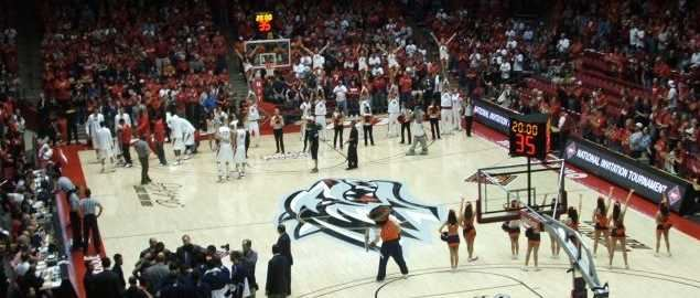 Inside of The Pit arena at the University of New Mexico.