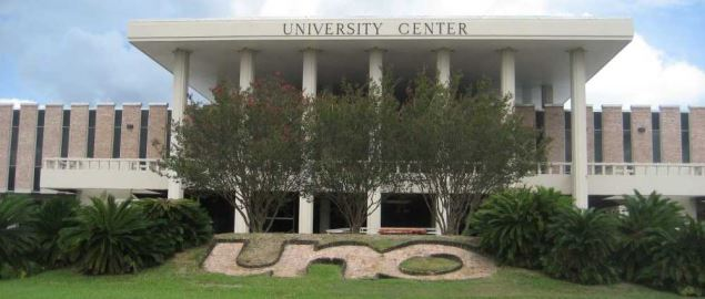 University of New Orleans, main campus. University Center building.