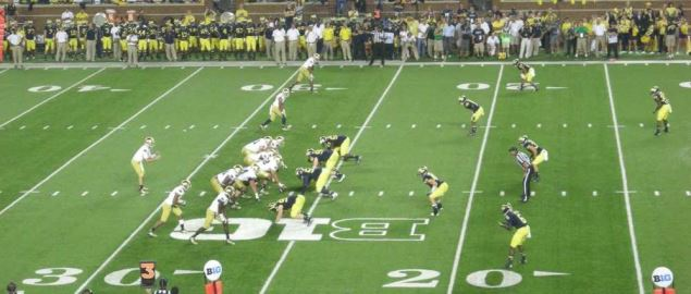 Notre Dame Fighting Irish vs. Michigan Wolverines at Michigan Stadium in 2013.