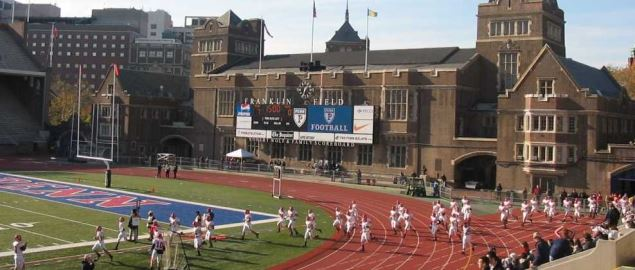 Penn Quakers hosting Cornell at Franklin Field during 2005 regular season game.