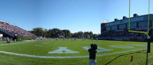 Rhode Island Rams Meade Field football stadium during a 2010 home game.