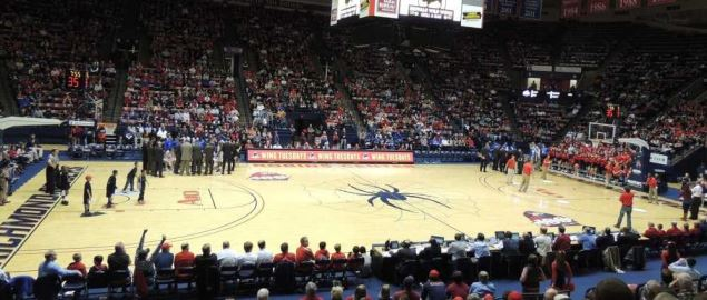 The Robins Center at the University of Richmond during 2013 home game vs St Louis.