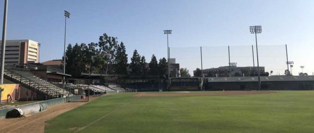 USC Trojans Dedeaux Field, outfield view.