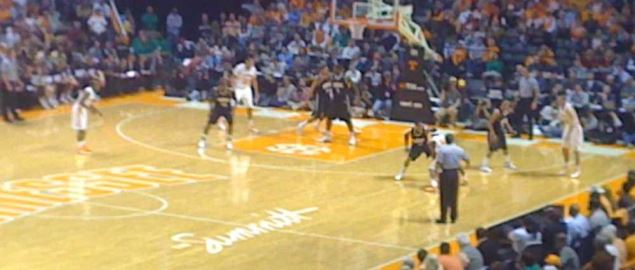 Tennessee Vols taking on the Vanderbilt Commodores in front of a packed arena at home.