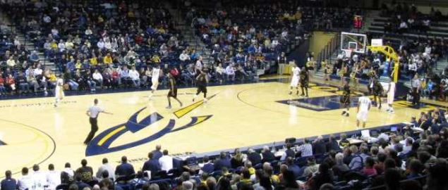 Interior view of Savage Arena on the campus of the University of Toledo.