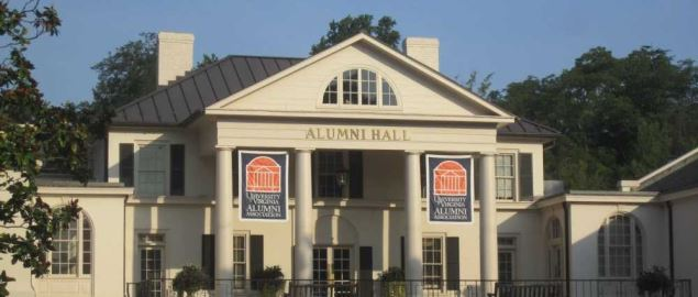 Alumni Hall of University of VA at Charlottesville.
