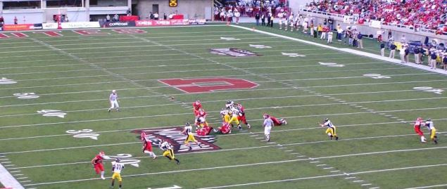 Utah Utes on defense during a home game vs California in a 2003 regular season game.