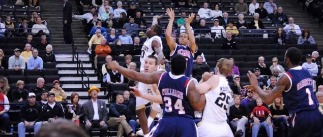 Wake Forest on defense vs Richmond.