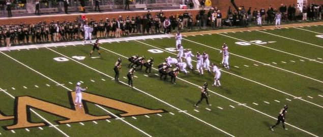 Wake Forest on defense during a home game vs Virginia Tech in 2006.