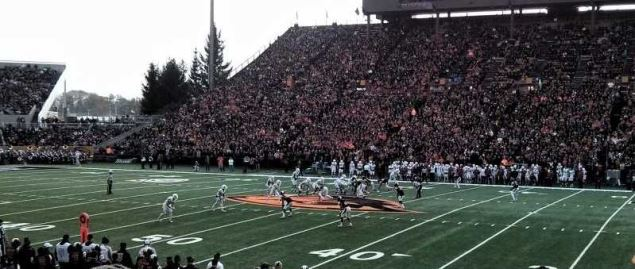 Washington State Cougars vs Oregon State Beavers on 11/8/2014.