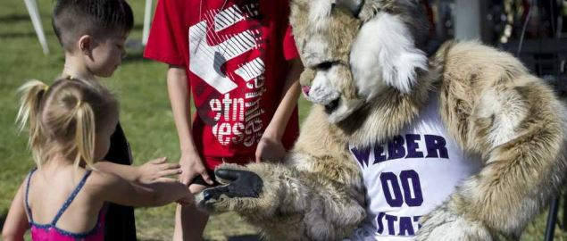 Weber State University mascot during the 2013 Salute to the Nation's Defenders Picnic.