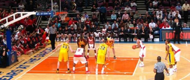 Louisville Cardinals vs West Virginia Mountaineers at Madison Square Garden.