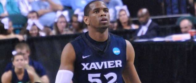 Xavier's Tu Holloway on the Floor for the Musketeers in Greensboro.